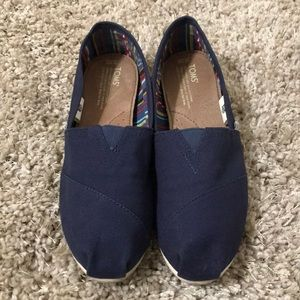 Toms Navy Blue Shoes 10W